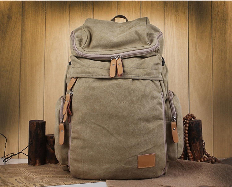 New Retro Men and Women Outdoor Canvas Bag Large Travel Backpack Bag Fashion Shoulder Bag ZXCV