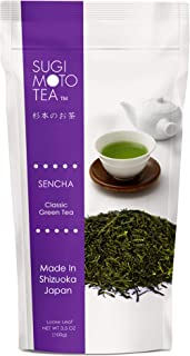 Sugimoto Tea Company SA Japanese Sen Cha, Loose Leaf, Package, White (ASINPPOSPRME18669), green tea, 3.5 Ounce