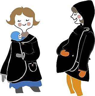Manduca by MaM - Abrigo portabebés con capucha (forro polar), talla única, cierres de botones (botones naturales), color n...