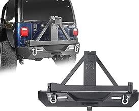 u-Box Rear Bumper w/Spare Tire Carrier & 2X 18W LED Flood Lights for 87-06 Jeep Wrangler TJ YJ - Explorer