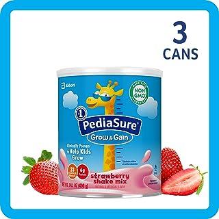 美国雅培小安素 Pediasure Grow & Gain儿童营养奶昔(2岁+) 草莓味 3罐装(400g*3)