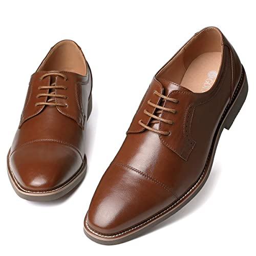 d3f1f67b00460 GM GOLAIMAN Men s Dress Shoes - Formal Lace Up Oxfords Cap Toe Balmoral  Shoes