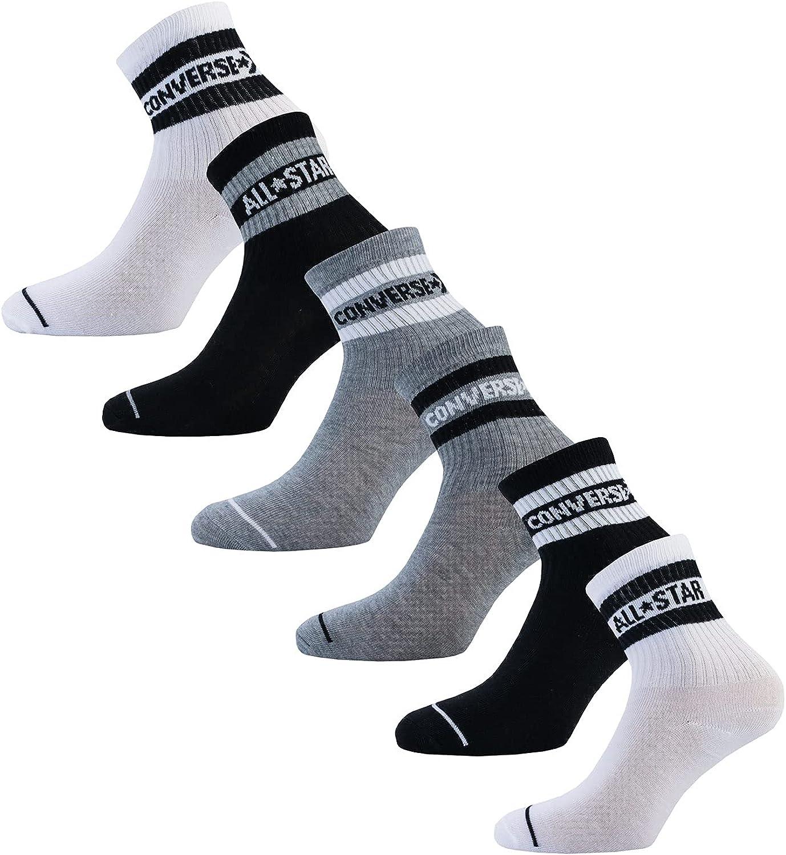 Converse Big Boys Crew Socks 6 Pack