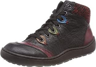 Rieker Women Ankle Boots Black, (Schwarz/Wine/Brandy/) 44430-00