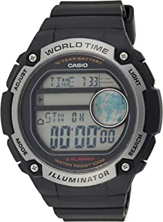 ساعة كوارتز بعرض رقمي وسوار من الراتنج للرجال من كاسيو، موديل AE-3000W-1AVDF