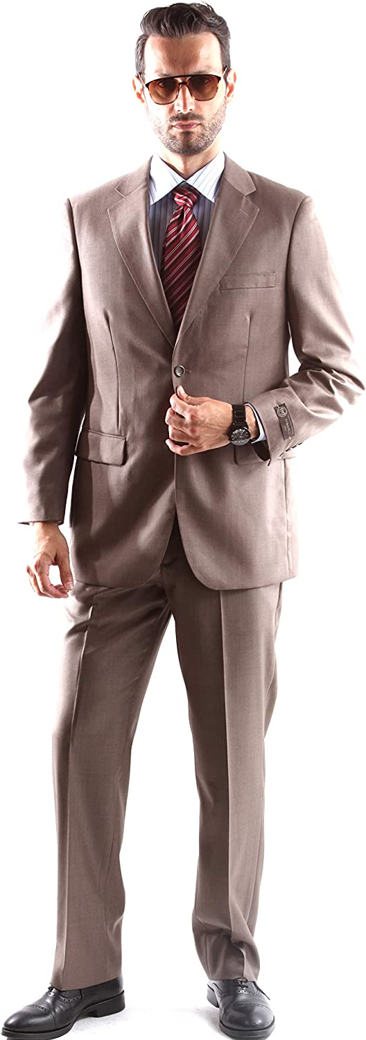 Caravelli Men's Single Breasted Two Button Dress Suit