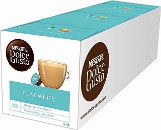 NESCAFÉ Dolce Gusto Flat White | 48 koffiecapsules | Arabica en Robusta bonen | Romig melkachtig genot | koffiecreatie | C...