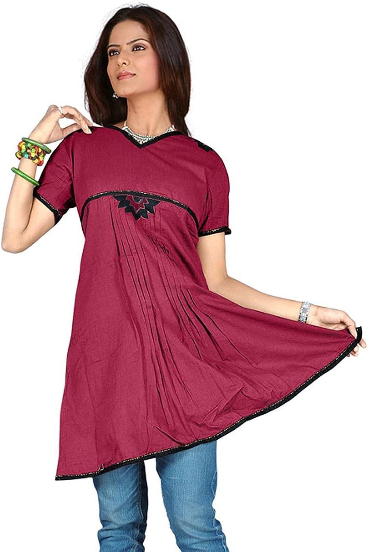 1545 Designs Women's Maroon Short Sleeve Dress