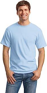 Hanes mens 5.2 oz. ComfortSoft Cotton T-Shirt (5280) LIGHT BLUE-6PK