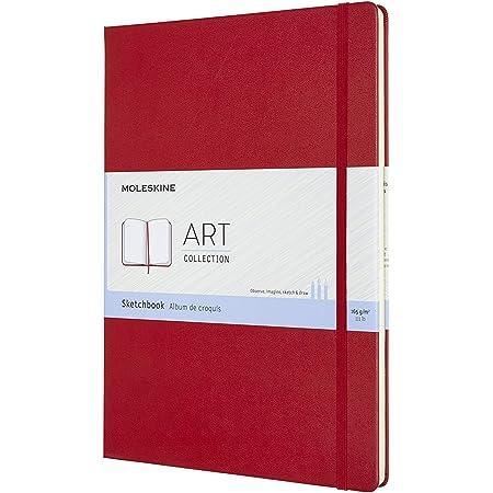 Moleskine Art Collection Sketchbook Album da Disegno per Schizzi, Copertina Rigida, Carta Adatta a Penne, Matite e Pastelli, Colore Rosso Scarlatto, Formato 21 x 29.7 cm, 96 Pagine