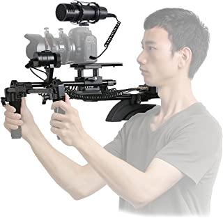 Movo Motorized Follow Focus and Zoom Control Video Shoulder Support System with External Stereo Microphone for Canon, Nikon, Sony DSLR Cameras and Camcorders