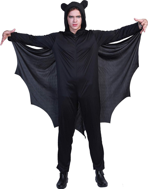 EraSpooky Murciélago Disfraz de Halloween Hombres Mujeres Niños