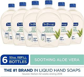 SOFTSOAP Liquid Hand Soap Refill, Soothing Aloe Vera, 50 Ounce Bottle, Bathroom Soap, Bulk Soap, Moisturizing Hand Soap, Premium Scented Hand Soap