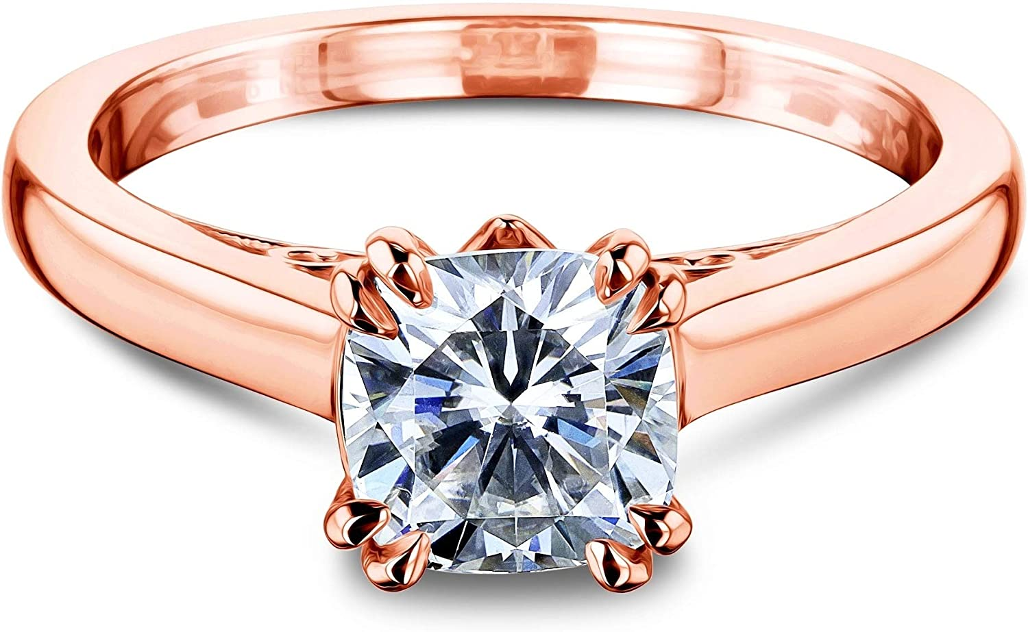MOTIEL 1 ct. tw. OFFicial store moissanite Engagement Ri Promise Ring Ranking TOP13 for Women