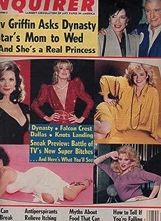 National Enquirer Newspaper, July 16 1985 Dallas Cast,Dynasty,Knots Landing,Falcon Crest