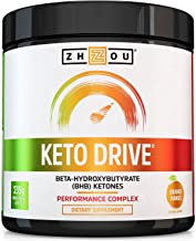 Keto Drive Exogenous Ketone Performance Complex - BHB Salts - Formulated for Ketosis, Energy and Focus - Patented Beta-Hyd...