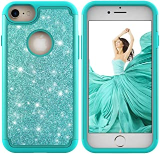 iPhone 7 / iPhone 8 Case, CUSKING Slim Glitter Shiny Case Heavy Duty Bumper Case Anti-Shock Shockproof Cover for Apple iPhone 7 / iPhone 8 - Green