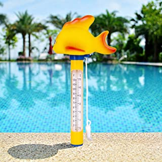 Floating Pool Thermometer, Shatter Resistant, for Outdoor & Indoor Swimming Pools, Spas, Hot Tubs, Jacuzzis & Aquariums Upgraded Version (-10? to 50?)(Goldfish)