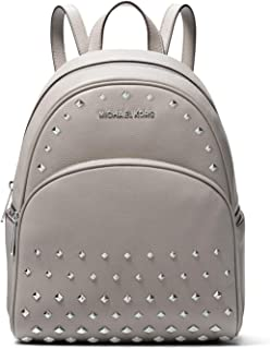 Michael Kors Abbey Medium Studded Pebble Leather Blackpack - Pearl Grey