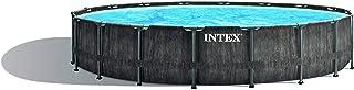 Intex Greywood Prism Frame Premium Pool Set Piscina montable, Color Gris Oscuro, Ø 549 x 122 cm
