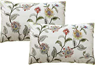 Softta 20x30 Green Leaves Floral Pillow Covers 2 pcs 100% Egyptian Cotton Cover Twin/Full/Queen (NO Comforter NO Filling)