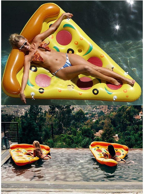 BHM Schwimmring, groe aufblasbare Pizza-Schwimmreihe - Schwimmring - Verdickung 180cm - Schwimmbett für Erwachsene