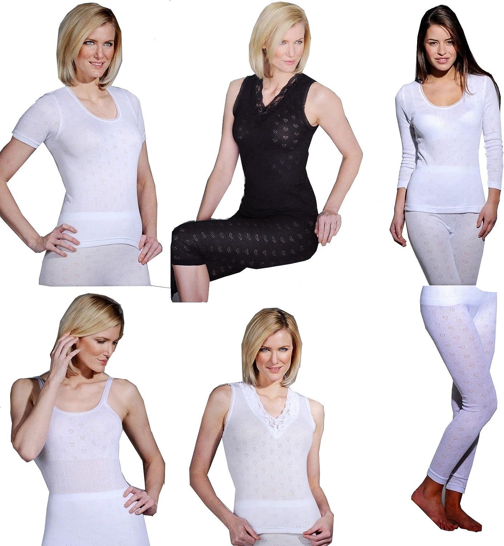 Delux Wear Ladies Thermal Underwear Sleeveless Cotton Vests in White