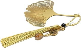 Segnalibri libri nappa perla albero di ginkgo Giappone ottone resina regali personalizzati regalo di natale anniversario c...
