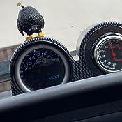 Mintice Kohlefaser 2 52mm Universal Doppelbohrung Gauge Pod Halter Halter Auto Kfz Instrumente Halterung Instrumentenhalter Auto