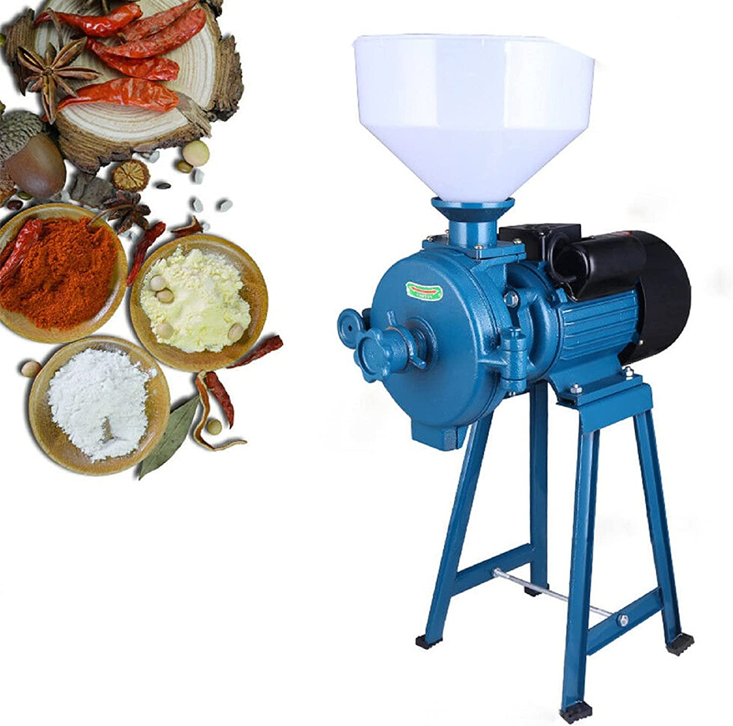 Commercial Electric Outlet sale feature Motorized Dry Max 64% OFF Flour Mill Feed Du 1500W Heavy