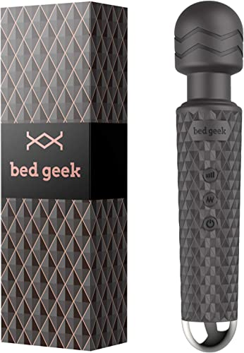 Wireless Full Body Wand Massager by BED GEEK Handheld Waterproof Electric Massage Wand Skin Soft Silicone 20 Patterns...