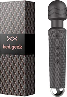 Massaggiatore wand con Nuova Funzione Memoria di bed geek Asta Massaggiatore Wireless Manuale ed Elettrico Silicone Soffic...