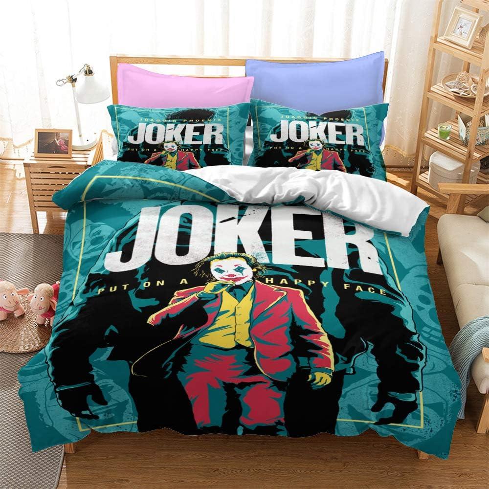 The Joker Duvet Cover Sets 3D Microfiber Printed 100% 祝日 別倉庫からの配送 Se Bedding
