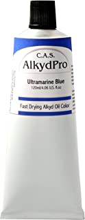 C.A.S. Paints AlkydPro Fast-Drying Oil Color Paint Tube, 120ml, Ultramarine Blue