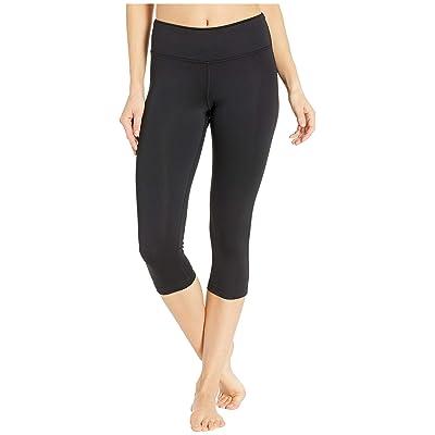Reebok Workout Ready Pant Program Capris (Black/Black) Women