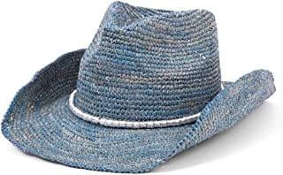 Physician Endorsed Women's Sierra Crochet Raffia Sun Hat with Gold Shimmer, Rated UPF 30 for Sun Protection