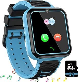 Smooce Smartwatch para Niños, Reloj Inteligente Niños Teléfono con 1.54 Pulgadas Pantalla Táctil, MP3 Música,Llamada SOS, Juego, Cámara, Linterna, Alarma,Reloj Regalo【Tarjeta SD de 1GB incluida】