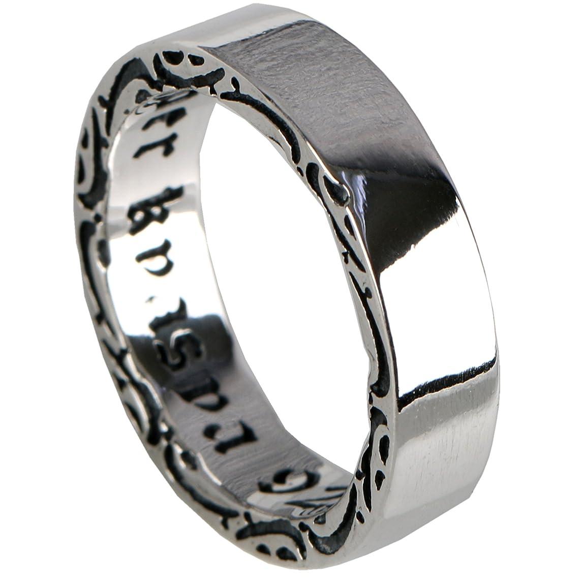 回路エチケットカールsilverkyasya(シルバーキャシャ) オリジナル シンプル リング シルバー925 指輪 ユニセックス 唐草彫り 925 平打ちリング 人気ブランド (18)