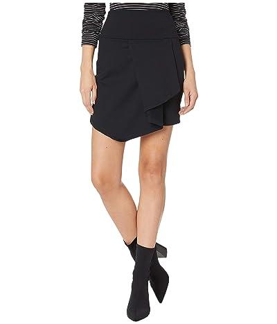 Susana Monaco Folded Cascade Front Skirt (Black) Women