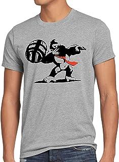 style3 Graffitismo Kong T-Shirt da Uomo Donkey Pop Art Banksy Geek Snes Wii u Nerd Gamer