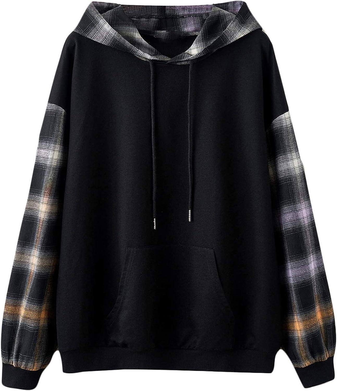 Verdusa Women's Embroidery Long Sleeve Drawstring Pullover Top Hoodie Sweatshirt