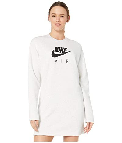 Nike NSW Air Crew Dress Fleece (Birch Heather) Women