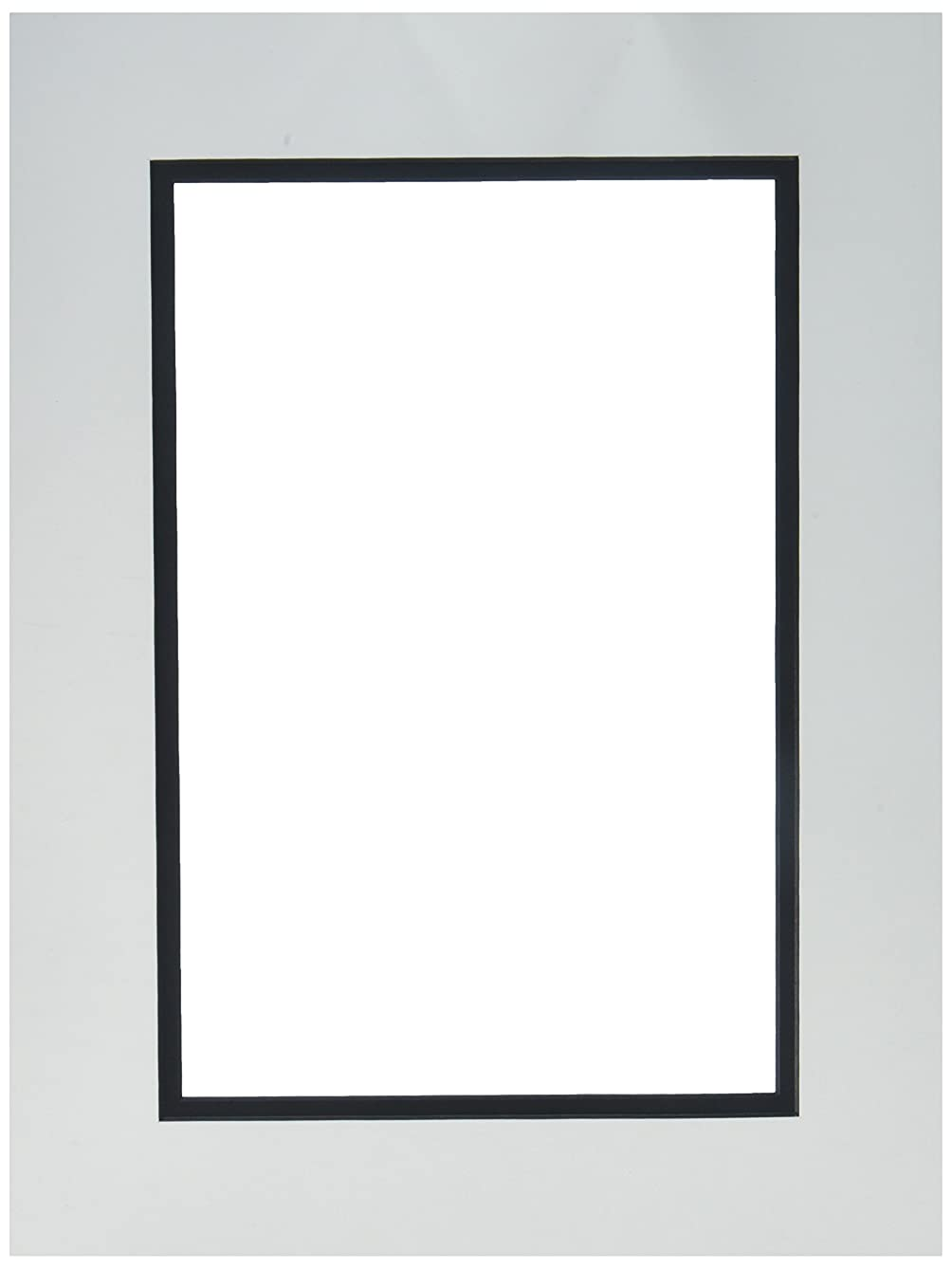 Accent Design Framing Mats ADF93607 ADF Mat Dbl 12x16/8x12 Core White/Black