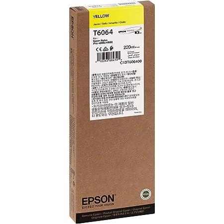 Epson UltraChrome K3 Ink Cartridge - 220ml Yellow (T606400)