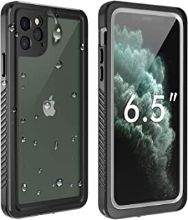 Temdan iPhone 11 Pro Max Waterproof Case, Built in Screen Protector Clear Sound Quality Full Sealed Cover Shockproof Dirtproof Outdoor Rugged Waterproof Cases for iPhone 11 Pro Max 6.5 inch 2019