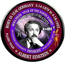 Albert Einstein Scientist/Physicist Born Pisces Zodiac Earth Rabbit Button