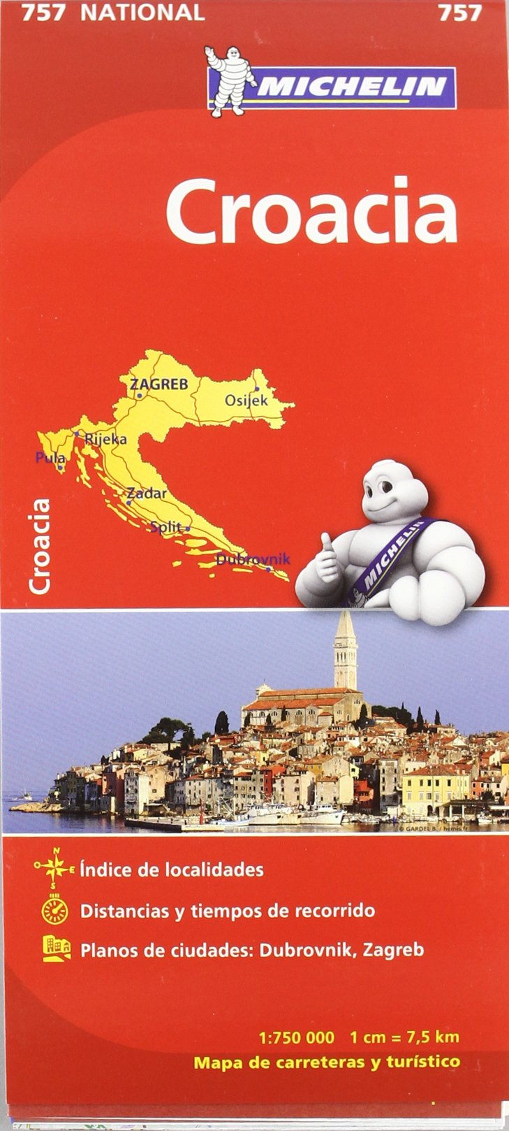 Mapa National Croacia (Mapas National Michelin)