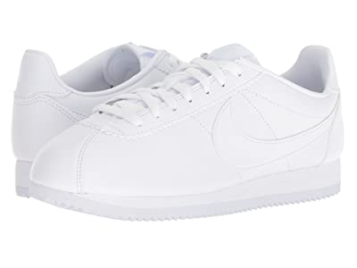 Nike Classic Cortez Leather (White/White) Women