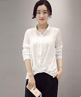 薇小歪 新款白衬衫衬衣OL风休闲小衬衫长袖雪纺衫雪纺衬衫立领显瘦女士衬衫上衣女GD607-9812