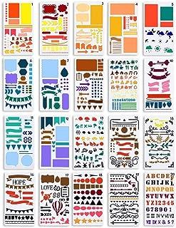 LOKIPA 描画テンプレート スクラップブッキング テンプレート DIYアルバム 絵図 手帳用に (20枚)